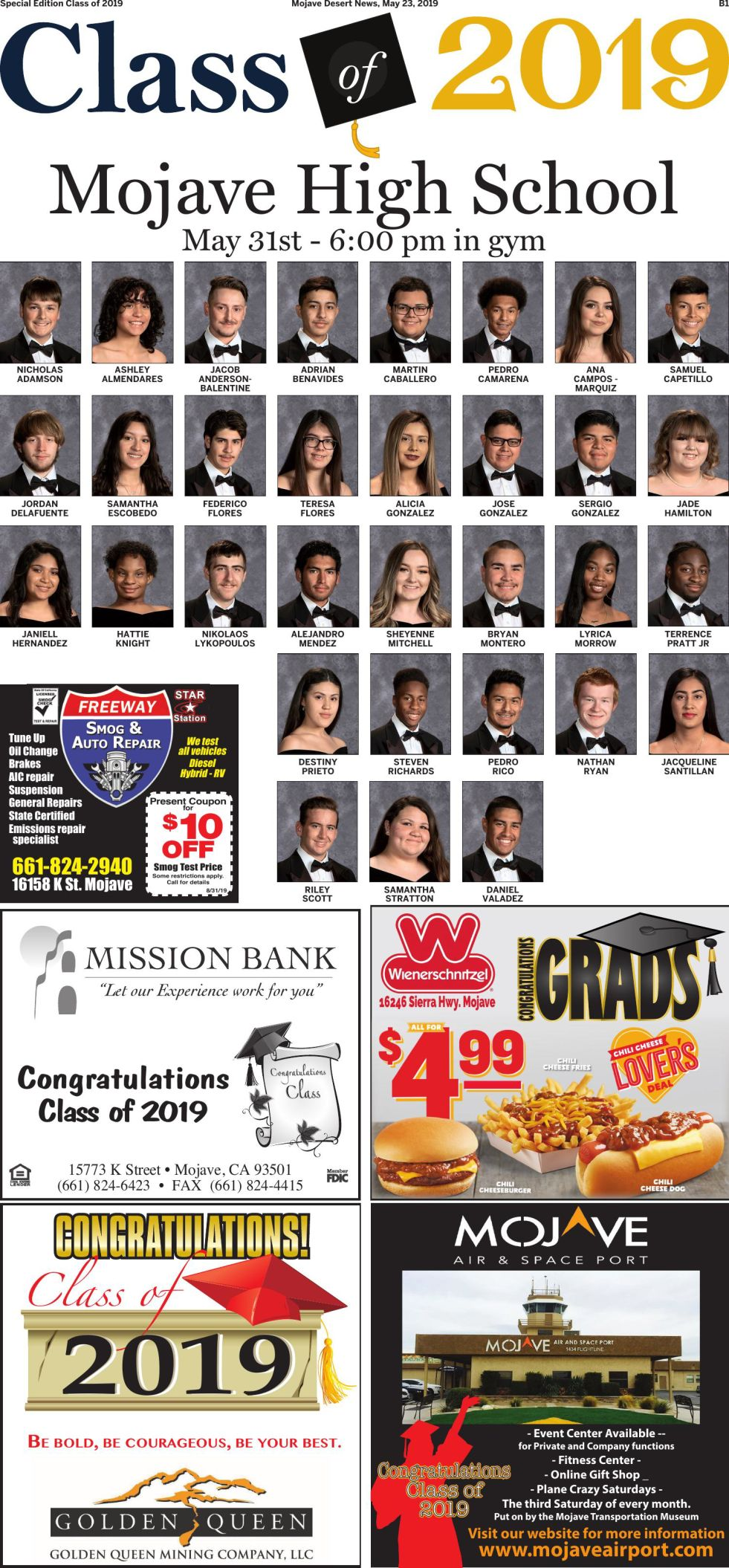 Class of 2019 Special Section