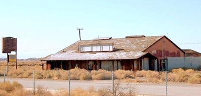 Little Red Barn restaurant in North Edwards after abandonment; fire destroyed the building in Jan. 2012.