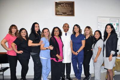 Dr. Sri and staff