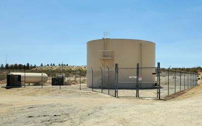 Rancho tract water tower