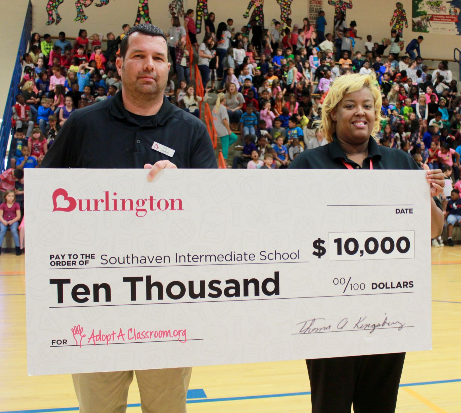 Southaven School Benefits From Check Presentation
