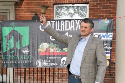 Coleman rings Farmers Market bell