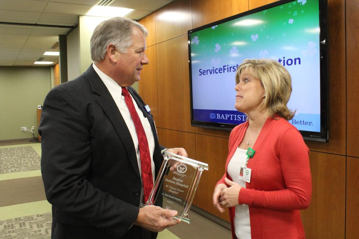 Baptist-DeSoto receives transplant award