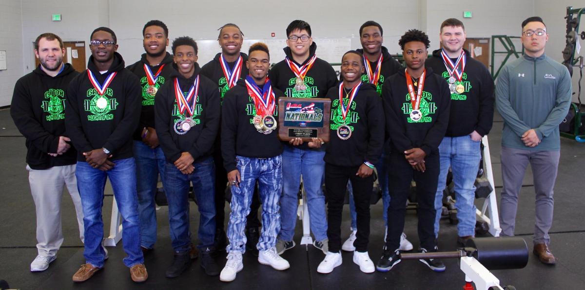 Lake Cormorant powerlifters national championship