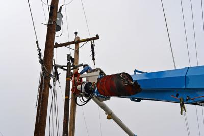 High-voltage power outage work