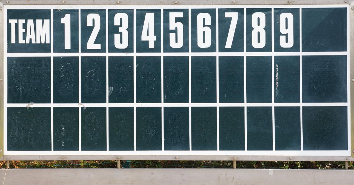 Baseball scoreboard graphic