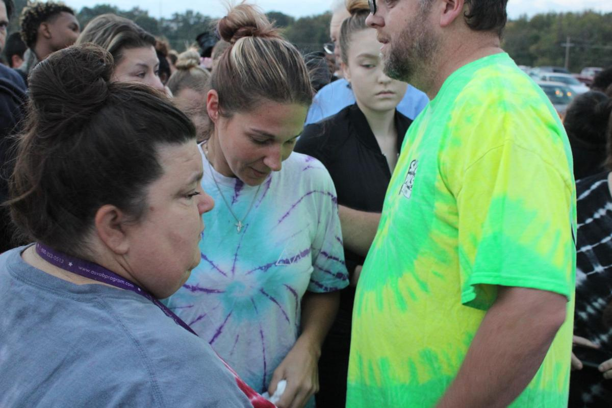 Cristy Tello consoled at balloon launch (copy)