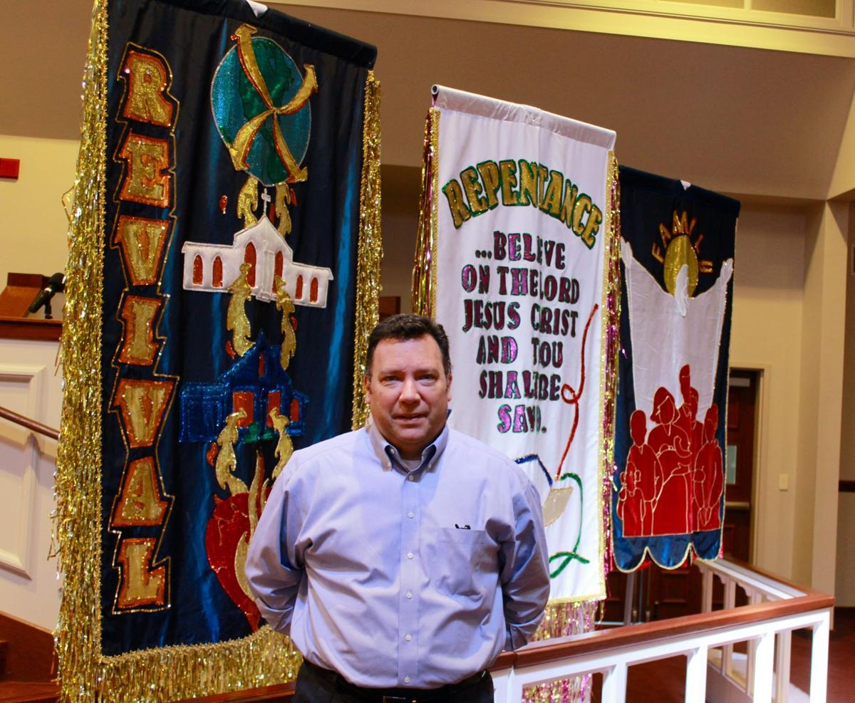 Brownsville banners at Maples Memorial UMC