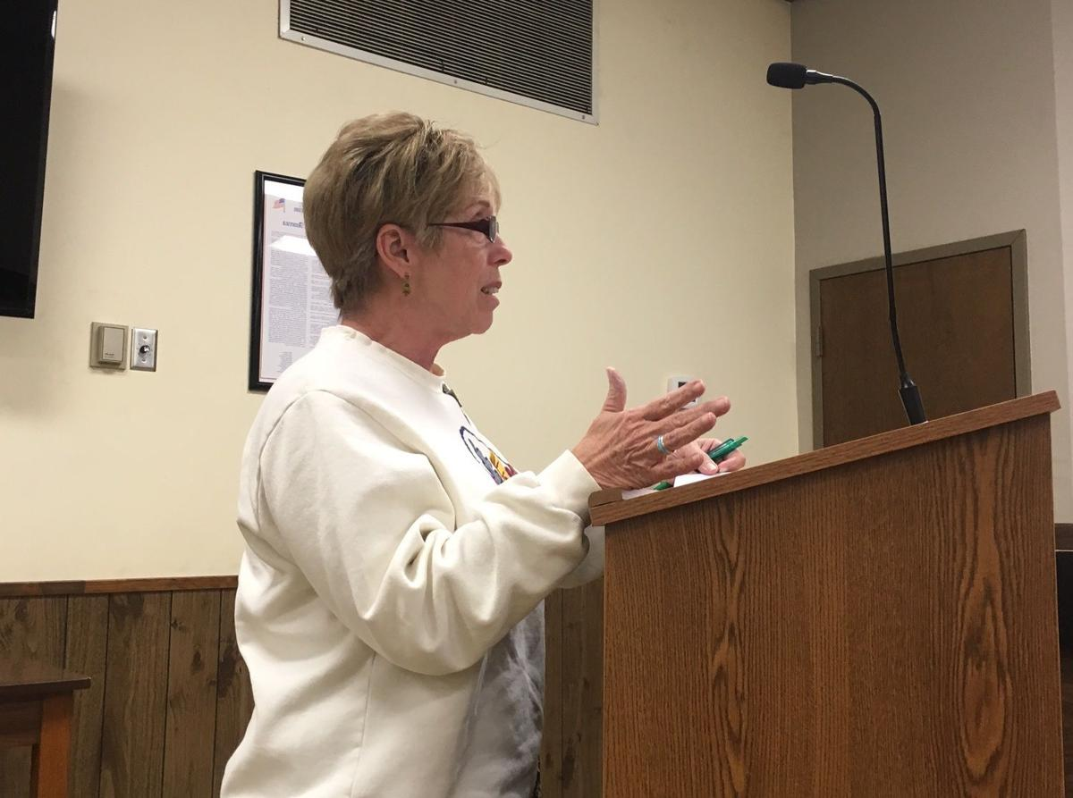 CArolyn Young at Hernando aldermen meeting