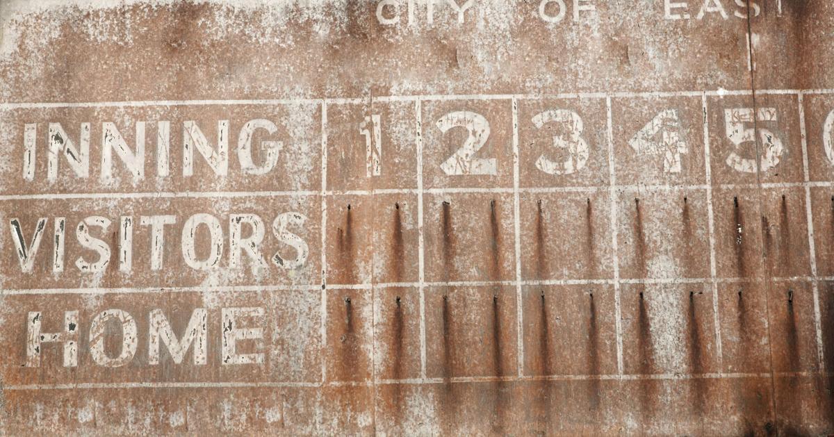 Baseball scoreboard graphic