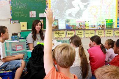 Child raising hand