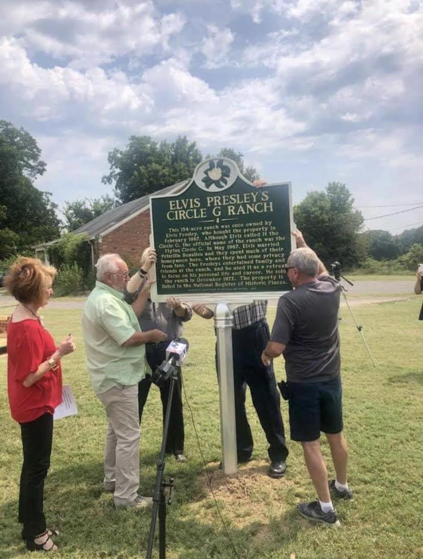 Circle G Ranch historic marker