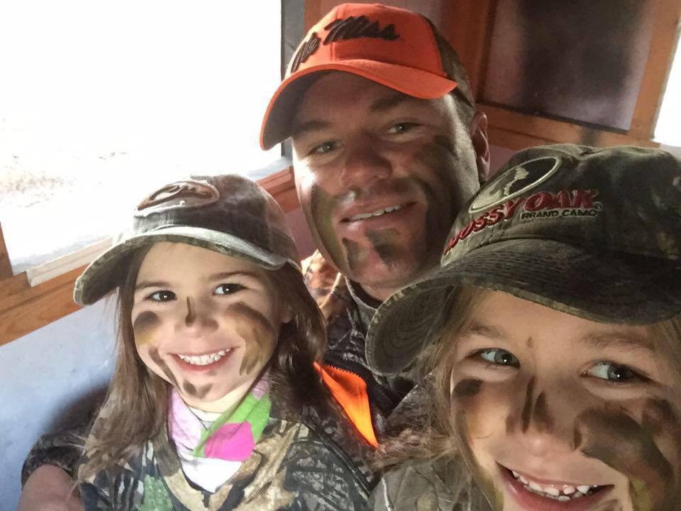 Jeff Walls and daughters outdoors