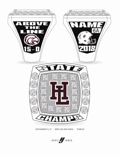 Horn Lake state title rings