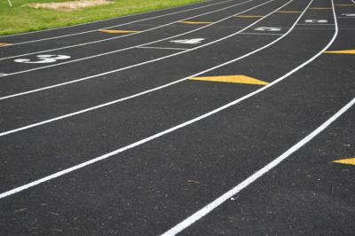Track and field graphic