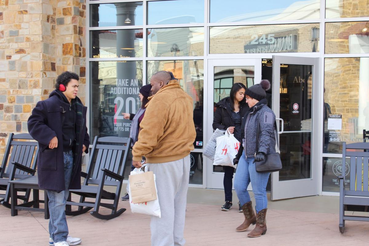 Tanger Outlets post-Christmas shopping