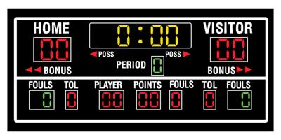 Basketball scoreboard graphic image