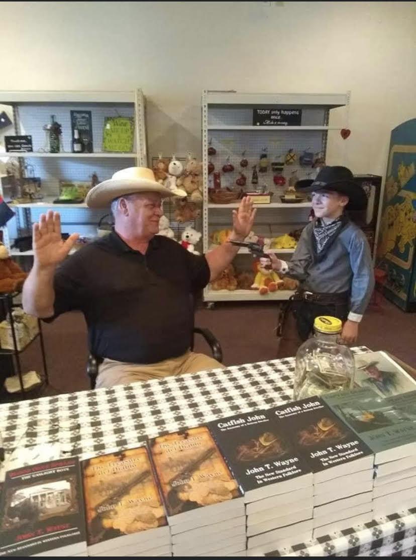 John T. Wayne book signing