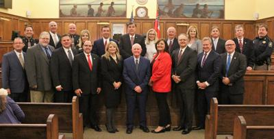 County officials sworn into office Sunday