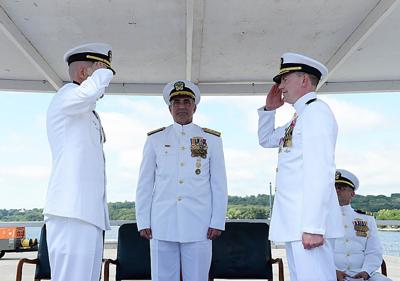 Submarine Squadron 4 holds change of command