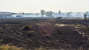 Grassfire outside Glenrock scorches land, property