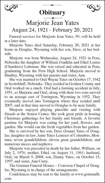 Marjorie Jean Yates