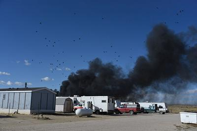 Fire at OK Wrecking