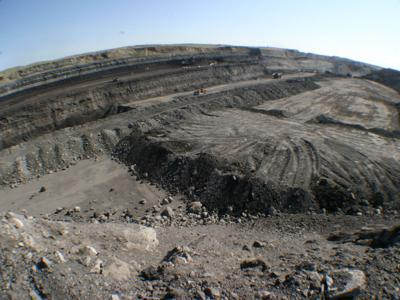 Basin coal mine
