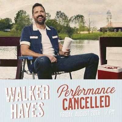 Hayes concert cancelled