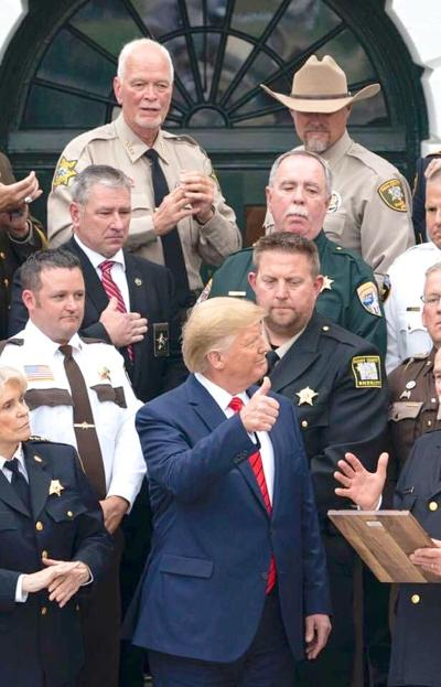 Wayne McKinney and President Trump