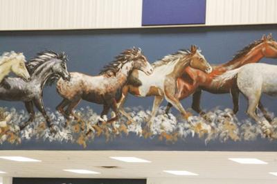 Central High Gym mural
