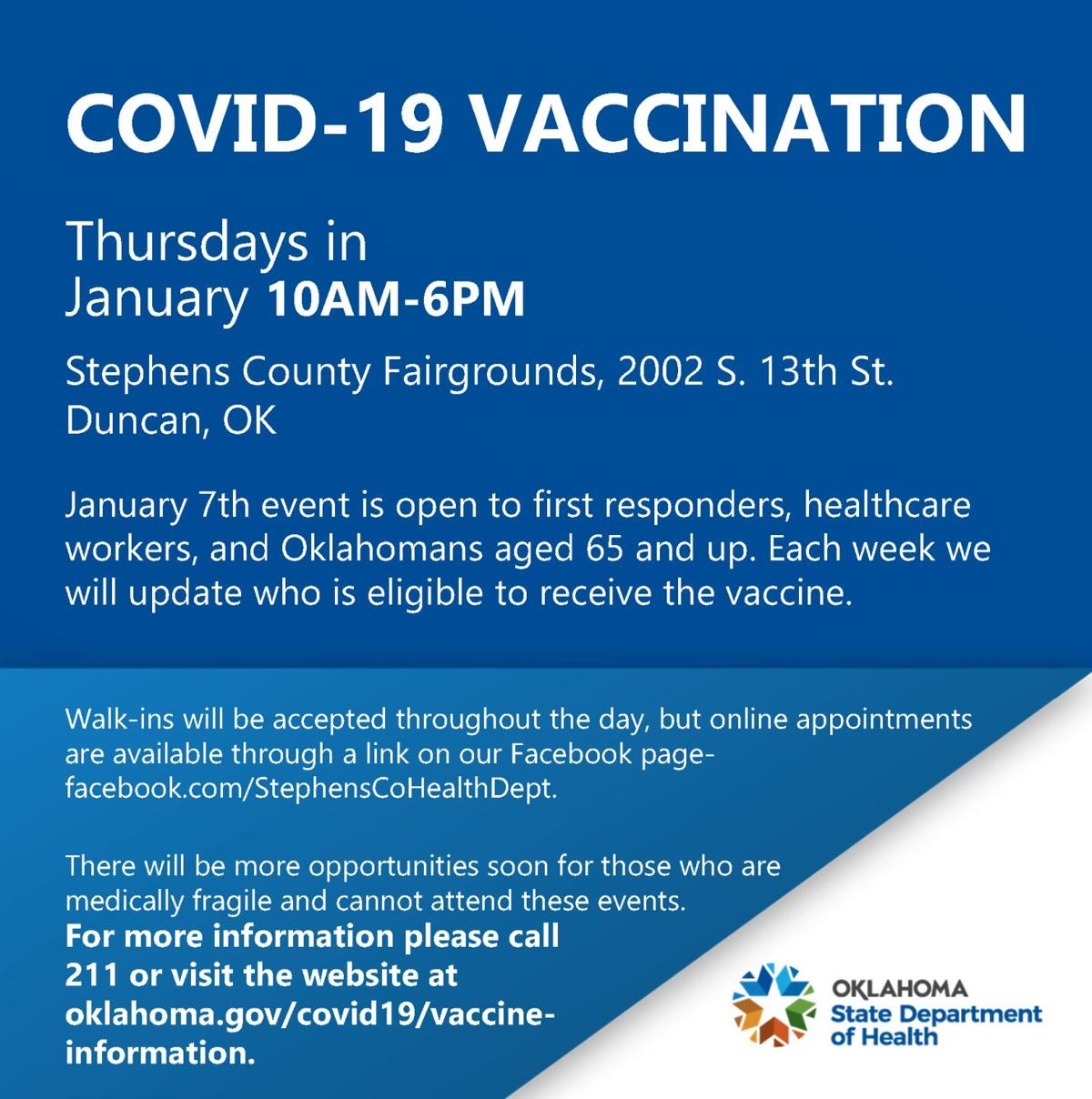 COVID-19 vaccine at fairgrounds
