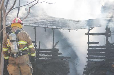 Firefighters respond to 114 W Pine for fire.jpg