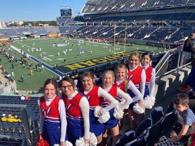 Marlow cheerleaders represent at the VRBO Citrus Bowl