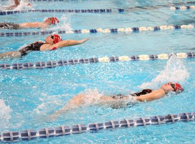 Lady Demons swimmers