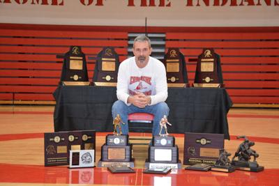 Miller with trophies