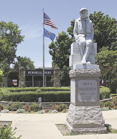 Erle P. Halliburton statue