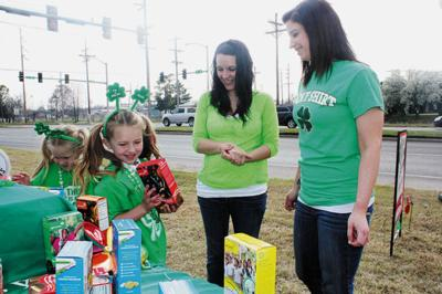 Girl Scouts go green for St. Patrick's Day.jpg