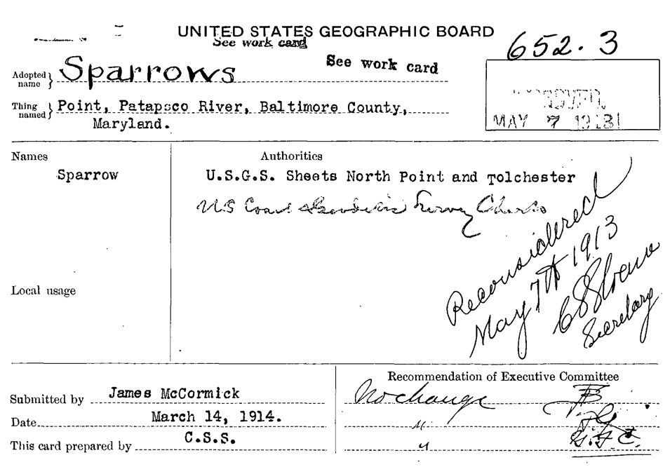 1914 Decision Card