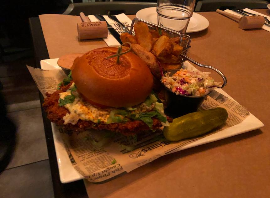 crabby chicken sandwich