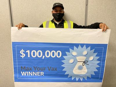 Man wins $100,000 Amazon prize for getting vaccine