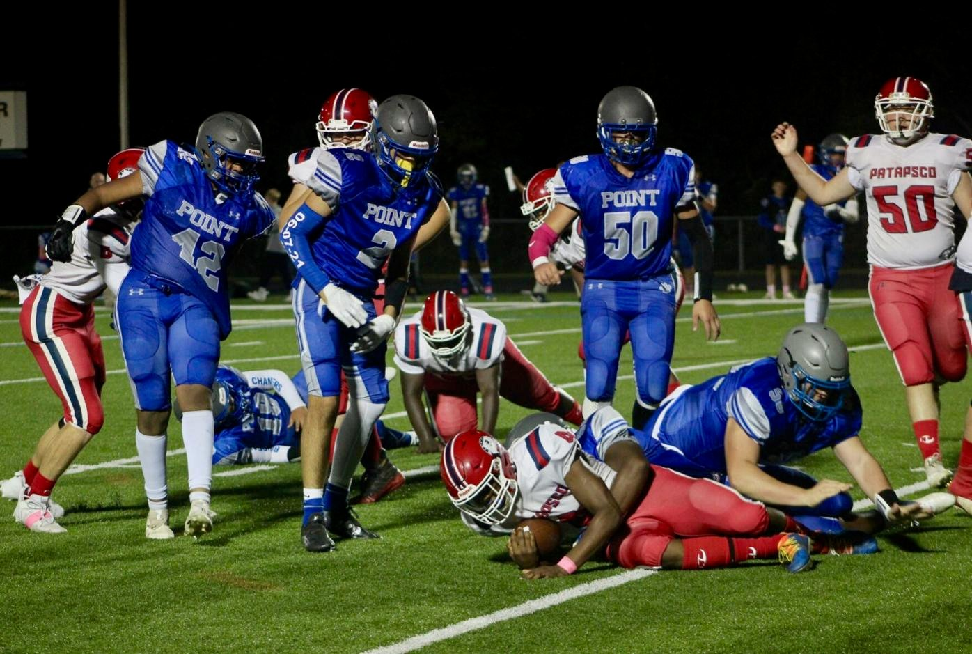 Pointers beat Patriots in homecoming game