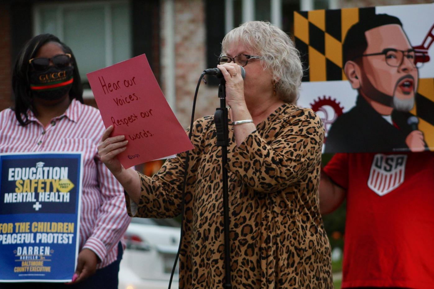 Locals, politicians protest school violence
