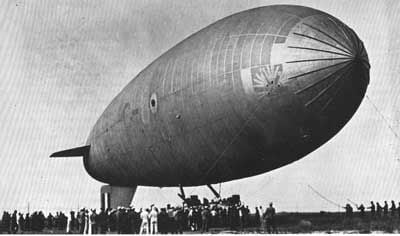What's up with the dirigible explosion?