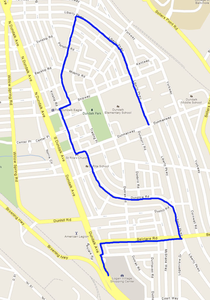 82nd Annual Dundalk Independence Day Parade Route