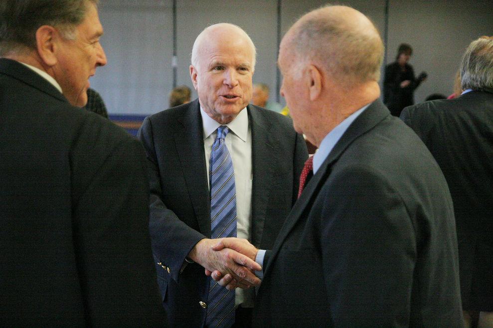 McCain visits Thatcher