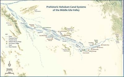 Canal systems on the Gila River