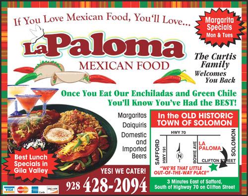 La Paloma Mexican Food Az