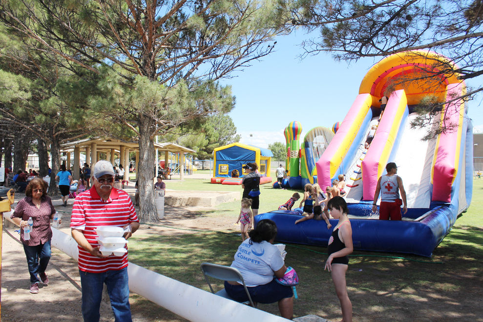 Community party in Blue Ribbon Park