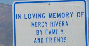 Bob Rivera adopts a walkway in memory of his late wife, Mercy